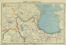 SOUTHERN CAUCASUS. Persia (Iran) North Iraq. Azerbaijan Armenia Turkey 1947 map