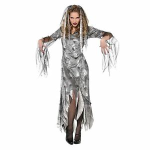 Womens Graveyard Zombie Fancy Dress Costume Undead Corpse Halloween Outfit