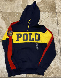 polo ralph lauren cookie spell out hoodie hooded sweatshirt size s new with tags