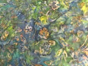 1 1/3 yd green batik fabric