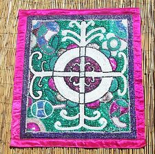"""Haitian Voodoo Vodou Drapo Flag with Beads, & Sequins by George Valris 26""""x30"""""""