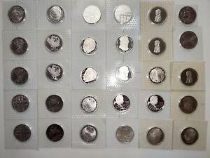 Mega Konvolut 30 x 5 DM Silber PP Noppenfolie Deutsche Mark Deutschland TOP