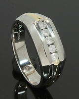9 Carat Yellow & White Gold Gents Diamond Set Ring 0.25ct Size S (80.18.524)