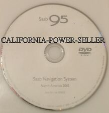 03 04 05  SAAB 9-5 95 AERO SEDAN WAGON NAVIGATION MAP DISC CD DVD NORTH AMERICA