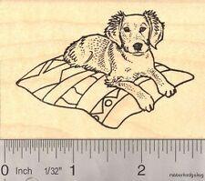 Golden Retriever Puppy on Blanket Rubber Stamp K16814 WM