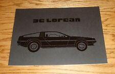 Original 1981 De Lorean Deluxe Sales Brochure 81