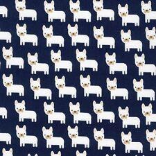 Kaufman Urban Zoologie by Ann Kelle AAK 15726 9 Navy Mini Dogs COTTON BTY