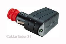Universal Winkelstecker 12-24V mit Sicherung 7,5A LED Schraub-Zugentlastung