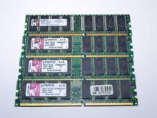 LOTE 4 MÓDULOS MEMORIA RAM DDR400 KINGSTON 512MB 400MHz KVR400X64C3A/512