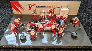 Da Matta, Toyota TF103, Pit Stop Diorama, 2003 -1:43 Minichamps