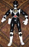 "1993 Bandai Mighty Morphin Power Rangers 8"" Black Ranger Action Figure Karate"