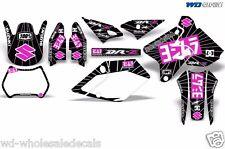 Decal Graphic Kit Suzuki DRZ400 DRZ 400 SM 400sm Decal Wrap Y Exhaust Pink/Black