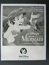 Walt Disney Records News Release ~  Sound Track Little Mermaid Re-release ~ 1997