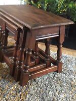 Genuine Vintage Splayed Legs Old Charm Nest Of Tables