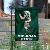 Michigan State Spartans Sparty Mascot Garden Flag and Yard Banner