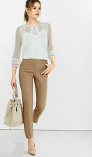 NEW EXPRESS $80 DESERT SAND LOW RISE EDITOR ANKLE PANTS SZ 6