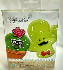 New listing Sweet Sugarbelle Funny Cactus 2 Pcs Set Cookie Cutters With Decorative Stencils