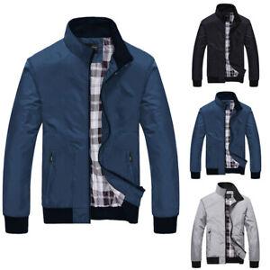 Herren Übergangsjacke Outdoor Sweatjacke Mantel Freizeit Windbreaker Jacke 36-46