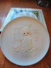 Precious Moments Plate Wishing You The Sweetest Christmas 1993 530204 Mib