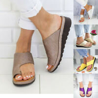 New Womens Summer Flats Wedges Open Toe Ankle Beach Shoes Roman Slippers Sandals
