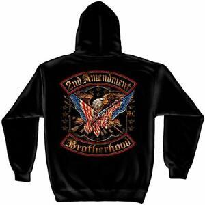 Second 2nd Amendment Brotherhood American Flag Eagle Patriotic Hoodie RN2245SW