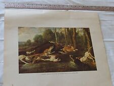 """Boar Hunting by Frans Snyders, Painting Litho Repro #5485, 21 1/4"""" x 18 1/4"""""""