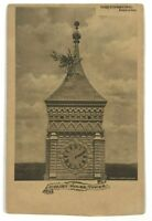 Postcard Greensburg IN Court House Tower Indiana Frank Batterton 1906 Undivided