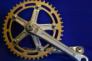 "Old School Shimano 600 BMX Crankset 45t Gold Chainring 170mm 9/16"""