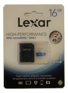LEXAR High-Performance 16 GB 300x microSDHC UHS-I,Class 10, 45MB/s