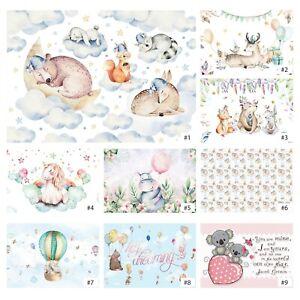 Tapete Kinderzimmer VLIES FOTOTAPETE Tiere Teddybär Einhorn Modern Babyzimmer 82