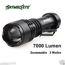 Real Super Bright 7000LM CREE Q5 AA/14500 3 Modes LED Flashlight Torch Lamp MT