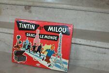jeu vintage tintin et milou dans le monde (jeux montbrison) complet