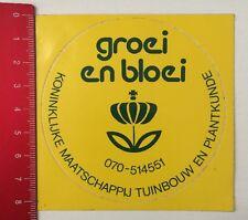 Aufkleber/Sticker: Groei En Bloei - Koninklijke Maatschappij Tuinbouw (19051668)