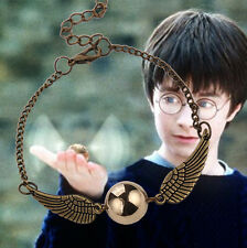 Harry Potter Silver Bronze Tone Snitch Angel Wings Gold Pendant Bracelet