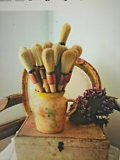 French - Stencil brush  - waxing brush  - vintage artist - paint brush