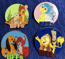 New ListingDisney Mystery Collection Bff'S Bambi Fox And Hound Joy Cogsworth Set Of 4 Pins