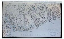 1936 Courtauld - RASMUSSEN LAND - Greenland - ESKIMO REMAINS - Color Map - 9