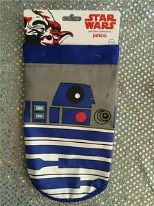 PET DOG STAR WARS R2-D2 BANDANA  DOG - SZ L/XL - TIES TO ADJUST FOR SIZE