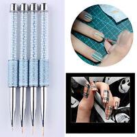 3pcs Nail Art Tips UV Gel Crystal Acrylic Painting Drawing Pen Polish Brush Pen
