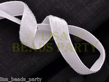 """10yards 3/8"""" 10mm Bling Ribbon Bows Wedding Party Decoration Sew White"""