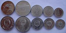 KOREA DEL N. SERIE 5 MONETE 100-50-10-5-1 WON FDC UNC