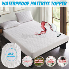 Mattress Protector Microfiber Waterproof Cover Single Double King Queen Sof #