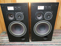 Vintage JBL L36 Speakers (Oak Cabinets) Studio Monitor Wood Rare Floor Speakers