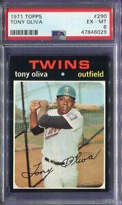 1971 Topps #290 Tony Oliva PSA 6 EX-MT