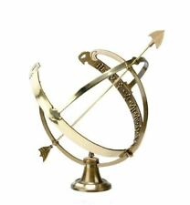 Antique Bronze Effect Profatius Solid Brass Garden Armillary Sundial
