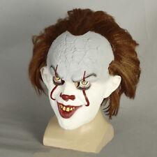 Pennywise The Dancing Clown Bob Gray Mask IT Horror Helmet Latex Halloween Prop