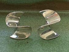 Mid Century Modern Swirl Sterling Silver Earrings