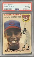 1954 Topps #94 ERNIE BANKS ROOKIE *Iconic Card* Perfectly Centered PSA 2.5 GOOD+