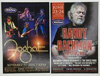 Foghat ad flyer handbill NYC BB King concert 2016 Randy Bachman turner overdrive