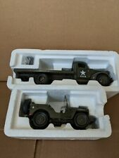 New Ray 1/32 1941 Chevy Military Flatbed Truckw/ Willys Jeep